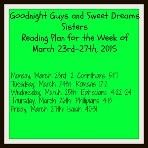 newbeginnings reading plan week 1